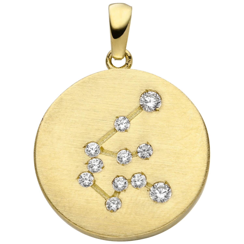 Jaspis Kugel Kettenanhänger Gold 333,Kettenanhänger Gold 333 mit Leopardenjaspis