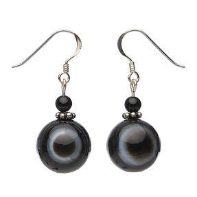 Ohrhänger-aus-Augenachat-und-Onyx