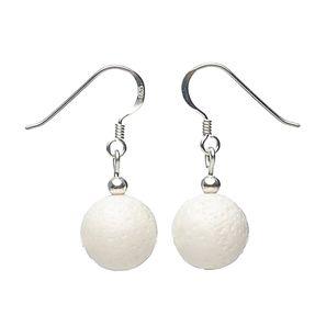 Ohrringe aus Koralle und 925er Silber