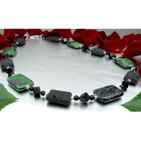 Kette-Rubin-Zoisit-Lava-Onyx-und-925-Silber