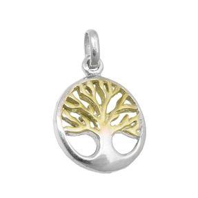 Anhänger-Lebensbaum-925-Silber-gelbvergoldet