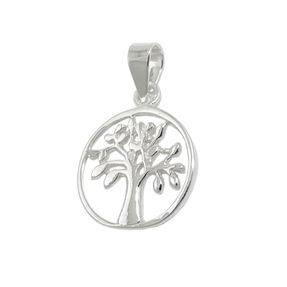 Anhänger-Lebensbaum-rund-glänzend-925-Silber