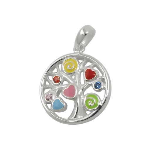 Kinderanhänger-farbiges-Lebensbaum-925-Silber