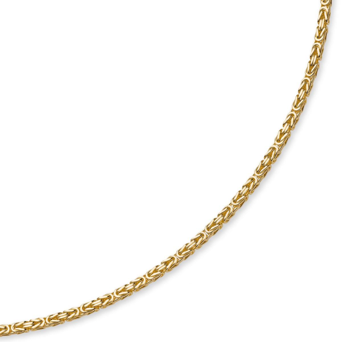 4mm kette halskette k nigskette aus 585 gold gelbgold 45cm herren. Black Bedroom Furniture Sets. Home Design Ideas