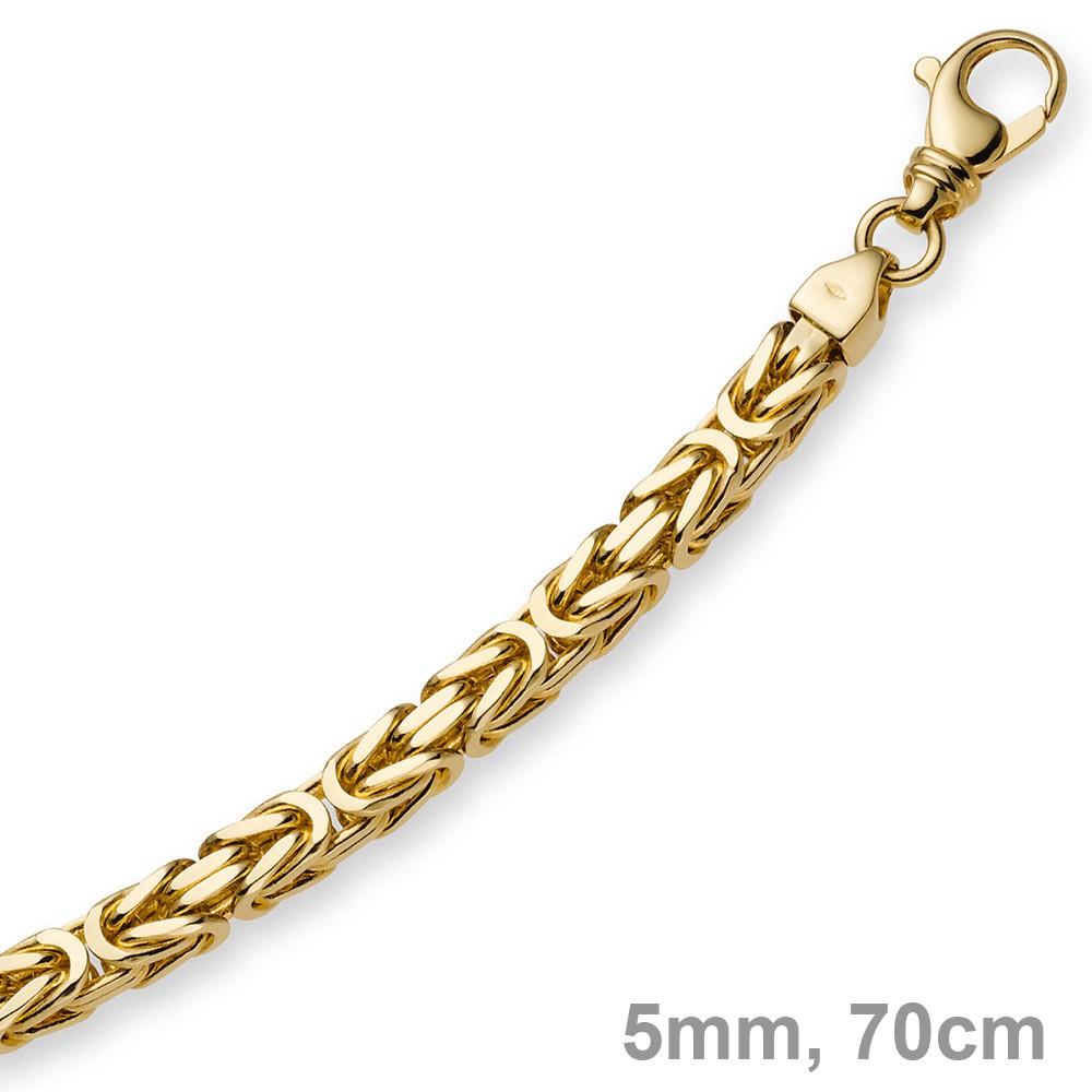 5mm Kette Halskette Königskette aus 585 Gold Gelbgold