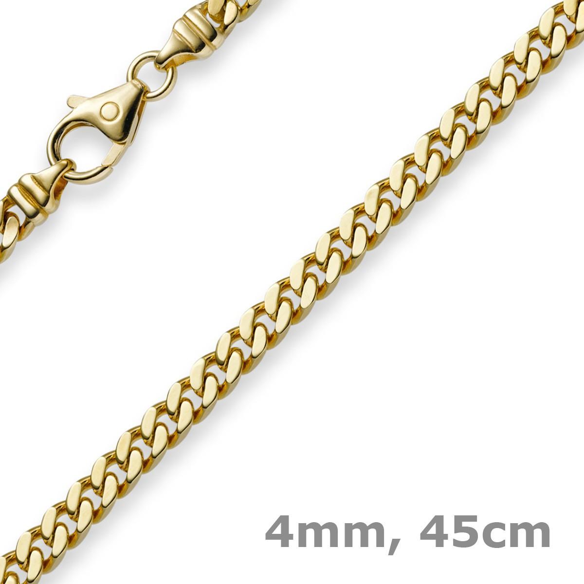 4mm panzerkette kette collier aus 585 gold gelbgold goldkette 45cm. Black Bedroom Furniture Sets. Home Design Ideas
