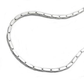 1x1mm Armband Armkette Armschmuck, Kobrakette 4x diamantiert, Silber 925, 19cm