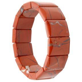 Armband Armschmuck Blutjaspis Rot-Jaspis B: 20mm braun dehnbar endlos unisex