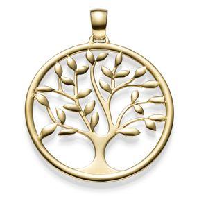 Anhänger Amulett Baum Lebensbaum aus 585 Gold Gelbgold Goldanhänger 40x33mm Vorschau