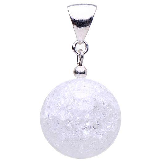 Anhänger aus Bergkristall und 925 Silber