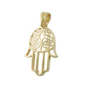 Anhänger-Hand-Schutzsymbol-aus-375-Gelbgold