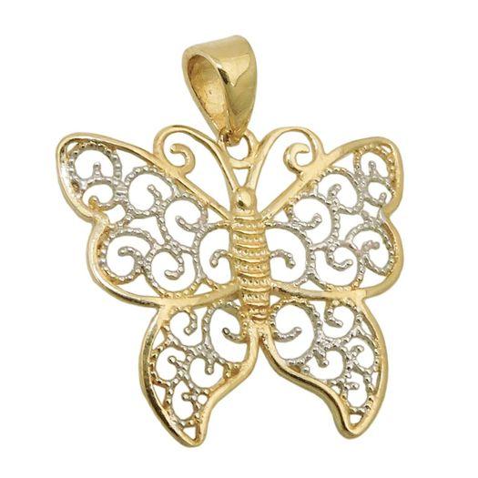 Anhänger-Schmetterling-mit-Ornament-375-Gelbgold