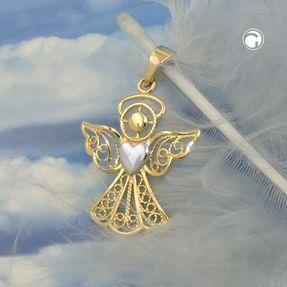 Anhänger-Engel-mit-Herz-375-Gold