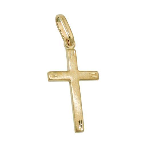 Anhänger-Kreuz-20x13mm-375-Gelbgold-schlicht