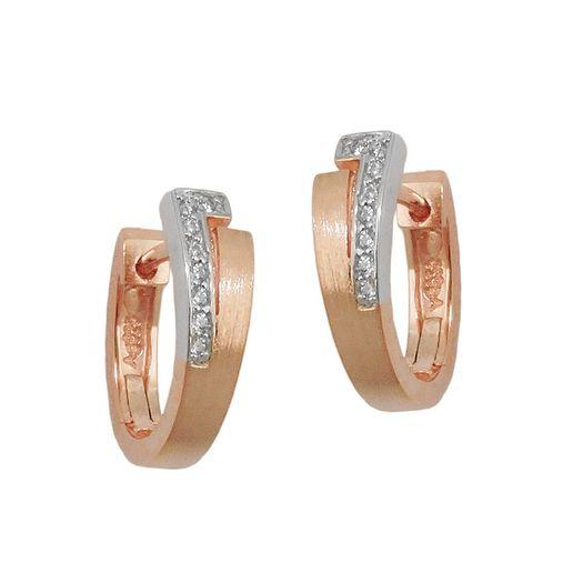 Creolen-15x5mm-Zirkonia-925-Silber-rotvergoldet