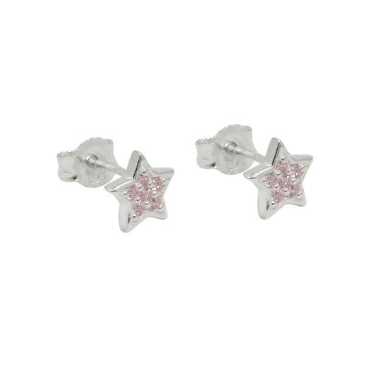 Ohrstecker-Sterne-mit-pink-Zirkonia-925-Silber
