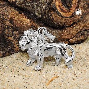 Anhänger-Löwe-aus-925-Silber-glänzend