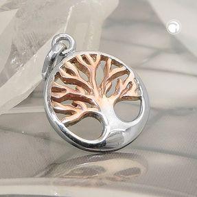 Anhänger-Lebensbaum-im-Kreis-925-Silber-vergoldet