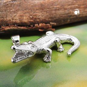 Anhänger-Krokodil-aus-925-Silber