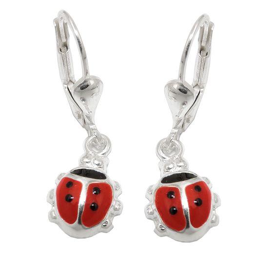Ohrhänger-Marienkäfer-schwarz-rot-925-Silber