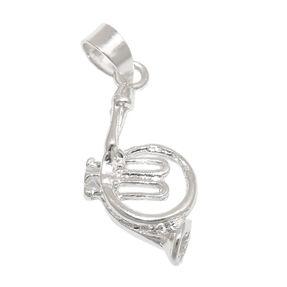Anhänger-Musikinstrument-Horn-925-Silber