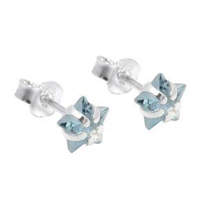 Ohrstecker-Stern-Aquamarin-hellblau-925-Silber