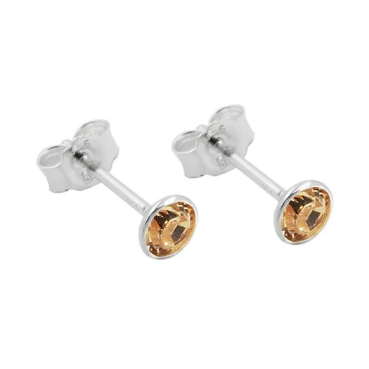 Ohrstecker-4mm-Zirkonia-champagner-925-Silber