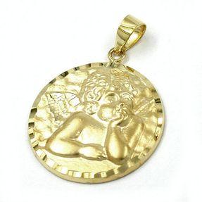 Anhänger-Engel-aus-585-Gelbgold-rund