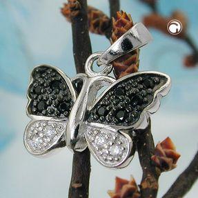 Anhänger-Schmetterling-Zirkonia-925-Silber