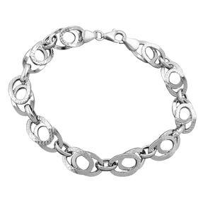 9mm-Armband-aus-925-Silber-rhodiniert-19-cm