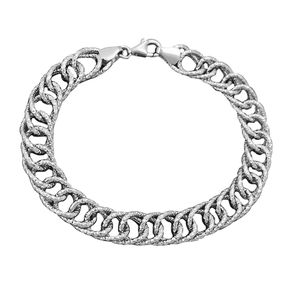 Armband-Zwillingspanzer-925-Silber-19cm
