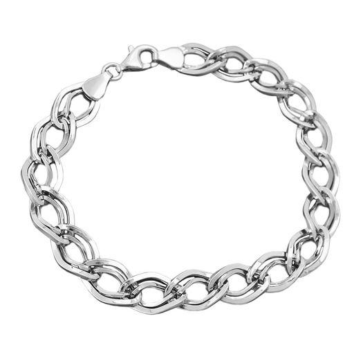 Armband-aus-925-Silber-glänzend-19cm