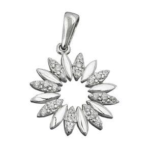 Anhänger-Blume-925-Silber-Zirkonia-weiß