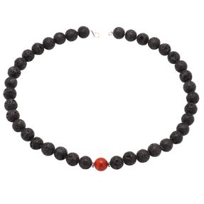 Halskette-aus-Lava-und-Koralle-12mm