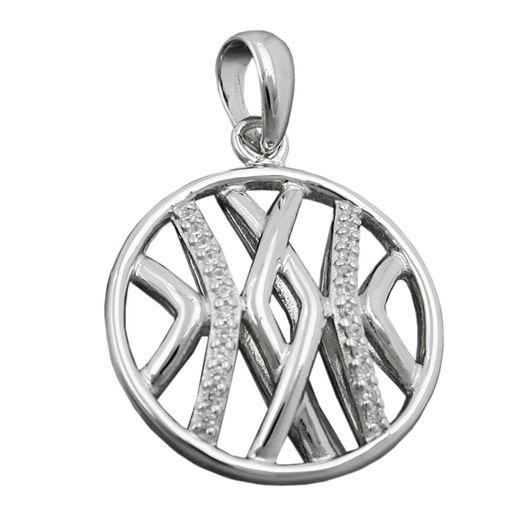 Anhänger-Kreis-mit-Muster-925-Silber