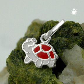 Anhänger-Schildkröte-rot-925-Silber
