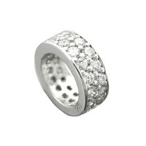 Taufring Anhänger mit viel Zirkonia weiß 925 Sterling Silber