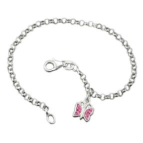 Armband-mit-Schmetterling-925-Silber-16cm