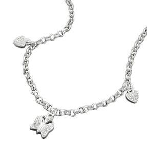 Kette-Herz-Schmetterlinge-weiß-925-Silber