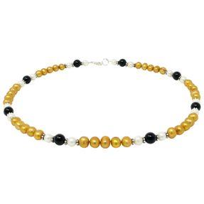 Kette-aus-Perlen-und-Onyx-gelb-schwarz-weiß