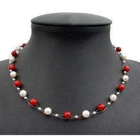 Kette-aus-Koralle-und-Perlen