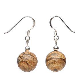 Ohrringe-aus-Cappuccino-Jaspis-und-Silber