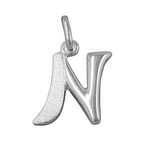 Anhänger-Buchstabe-N-925-Silber