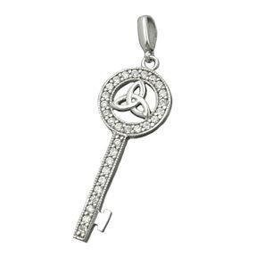 Anhänger-Schlüssel-mit-Triquetra-925-Silber