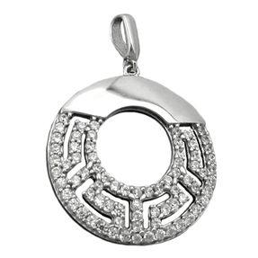 Runder-Anhänger-mit-vielen-Zirkonias-925-Silber