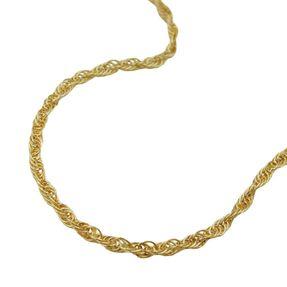 Kette-Halskette-Ankerkette-gedreht-585-Gold-42cm