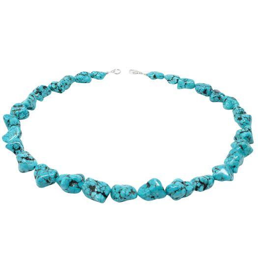 Halskette-Türkis-Natur-Steine