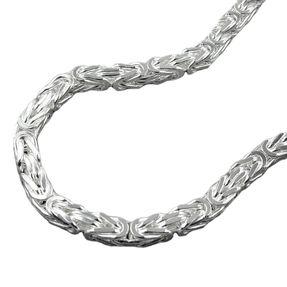 Armband-4mm-Königskette-Silber-925-21cm