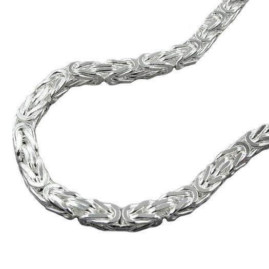 4mm-Königskette-925-Silber-massiv-50-cm