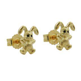Ohrringe Ohrstecker Hase, klein & fein, 9Kt 375 GOLD